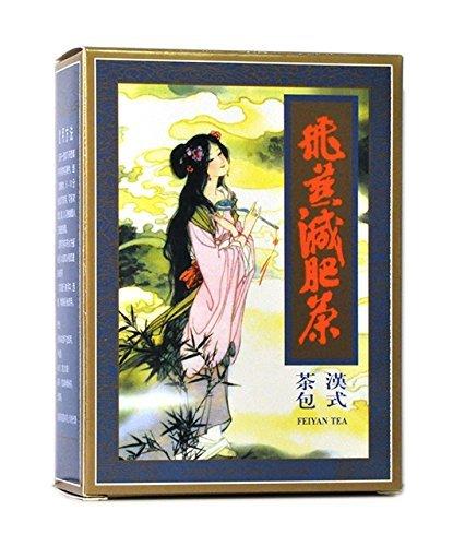 4 paquetes de Feiyan Fei Yan Té adelgazante 80 Bolsas de té para dos meses tratamiento Oolong Versión