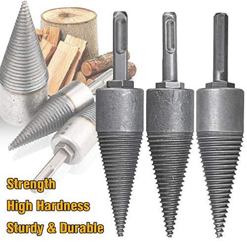 Firewood Log Splitter Drill, Wood Splitter Drill Bits,Heavy Duty Drill Screw Cone Driver for Hand Drill Stick (for Rhinestone) Tool