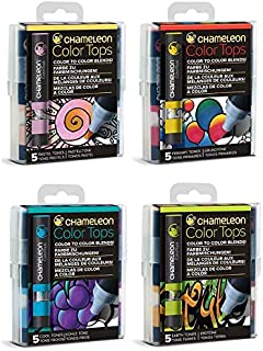 Chameleon Color Tops - Original 20 Colors - Set of 5 - Bundle of 4: Pastel, Primary, Earth and Cool Tones - (Bundle 4 Items)