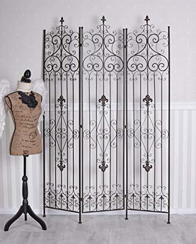 Unbekannt Paravent Metall Trennwand Sichtschutz Mobile Wand Eisen Spanische Wand AJA177 Palazzo Exklusiv
