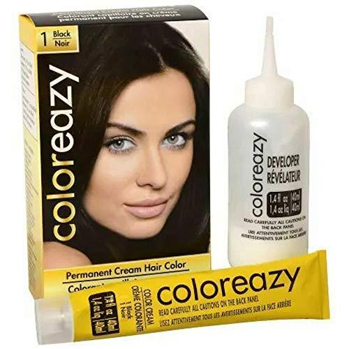 ColorEazy Permanent Cream Hair Color 1 Black - 3.47 oz,(De La Ritz)