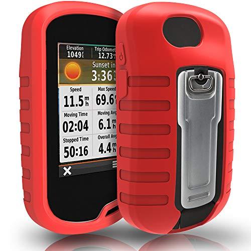 TUSITA Funda para Garmin Oregon 600 600t 650 650t 700 750 750t - Case Protectora de Silicona - Accesorios GPS de Mano (Rojo)