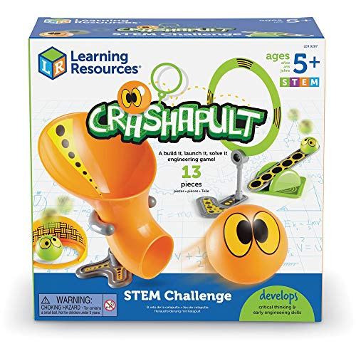 Product Image of the Learning Resources Crashapult STEM Challenge, STEM Catapult Game, 13 Pieces,...