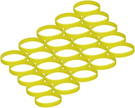 Yellow Ribbon Awareness Silicone Bracelet 25 Pack