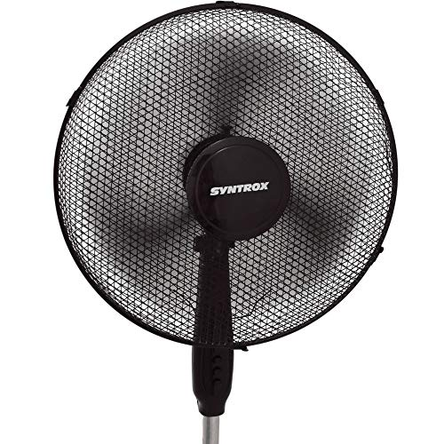 Syntrox Germany SVT-44W-BL Ventilator mit Oszillation Standventilator Windmaschine Axialventilator Lüfter Gebläse Luftkühler