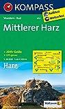 KOMPASS Wanderkarte Mittlerer Harz: Wanderkarte mit Aktiv Guide und Radwegen. GPS-genau. 1:50000 (KOMPASS-Wanderkarten, Band 452)