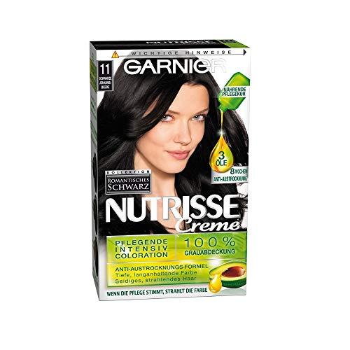 Garnier NUTRISSE Pflegende Intensiv Coloration 11 Schwarze Johannisbeere, 3er Pack (3 x 140 ml)