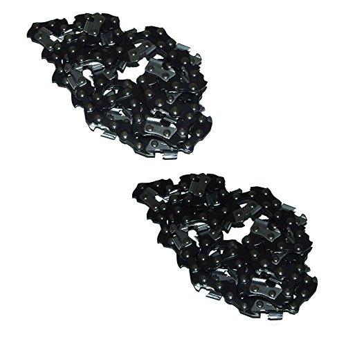 RocwooD 2 chaînes de scie de 50,8 cm conviennent à de Nombreux tronçonneuses Parker 62 CC avec chaîne .325.