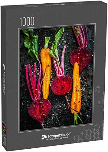 Puzzle 1000 Teile Rohes Gemüse zum Braten, auf einem Backblech - Klassische Puzzle, 1000 / 200 / 2000 Teile, edle Motiv-Schachtel, Fotopuzzle-Kollektion 'Essen' (1000, 200 oder 2000 Teile)