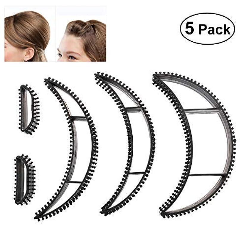 説教塗抹アイスクリームTinksky Big Bumpits Happie Hair Volumizing Inserts Hair Pump Beauty Set Tool Gift,Pack of 5 (Black) [並行輸入品]