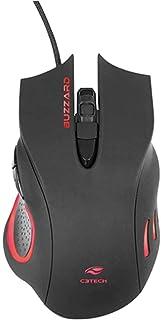 Mouse Gamer C3Tech USB Buzzard Com Led Multicolor 6 Botões 3200 DPI Designer Ergonômico USB Gold Preto - MG-110BK