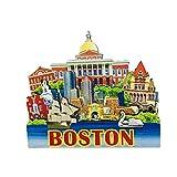 Imán para nevera de Boston USA de producto de madera 3D, regalo de recuerdo para decoración del hogar de la cocina