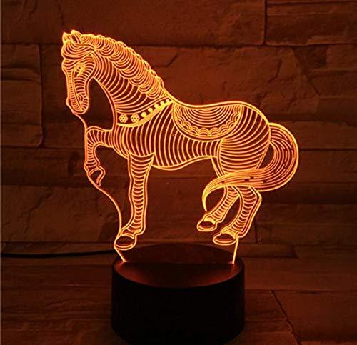 Bedoo Led 3D ilusión luz nocturna inteligente led mesa estado de ánimo lámpara decoración del hogar regulables lámparas de decoración para niños