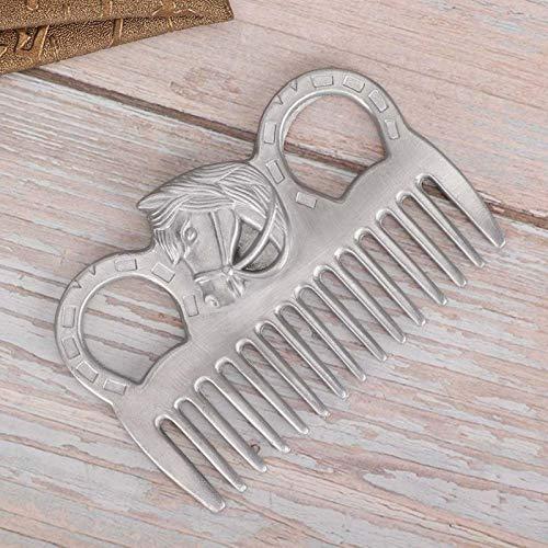 SALUTUYA Geschnitztes Design Wunderschönes Pferdekamm im Taschenformat 3,9 x 2,8 x 0,2 Zoll zum Kämmen des Schwanzes