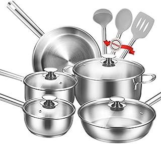 Batería de Cocina, TIBEK Juego de Ollas 12 piezas Premium