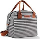 KATUMO Lunch Bag Insulated Tote Bag Reusable Lunch Box with Removable Shoulder Strap