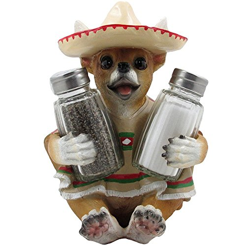 Chihuahua Glass Salt and Pepper Shaker Set