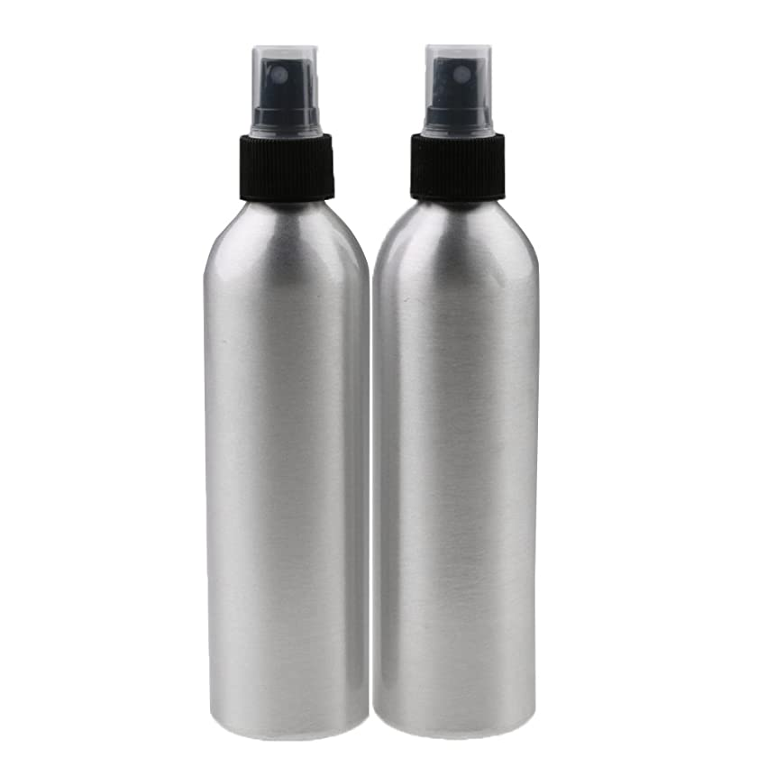 経済的郵便番号スパンPerfk 2個入り 旅行 アルミ ミスト スプレー 香水ボトル メイクアップ スプレー アトマイザー お風呂/出張/旅行/海外に適用  全4サイズ - 100ml