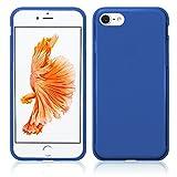 TBOC Blau Gel TPU Hülle für Apple iPhone 7 - iPhone 8 - iPhone SE (2020) (4.7 Zoll) Superdünn Flexibel Silikonhülle