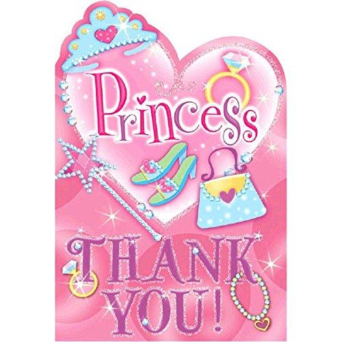 Amscan International Thank You Folded Princess Card