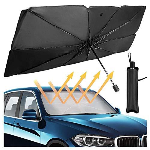 Auto Windschutzscheibe Sonnenschirm Regenschirm, Faltbarer Auto Regenschirm Sonnenschirm Abdeckung UV Block Wärmedämmung Front Fenster Innenschutz Für Auto...