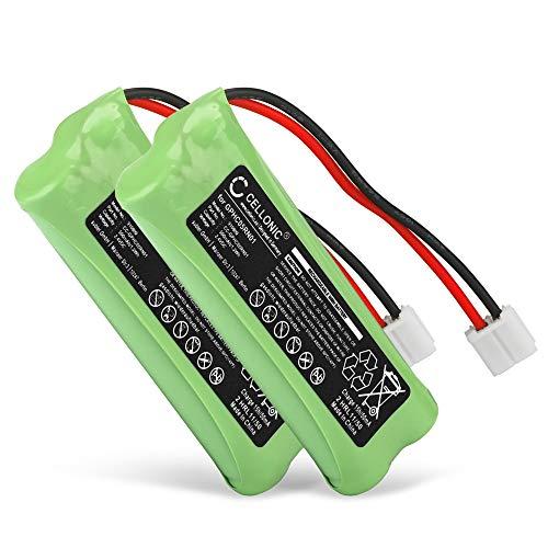 CELLONIC 2X Akku kompatibel mit Audioline Monza,kompatibel mit Medion Life S63062, S63065, MD82973, MD93035, kompatibel mit Swissvoice DP500 Eco Plus - GPHC05RN01 (500mAh) Ersatzakku Batterie