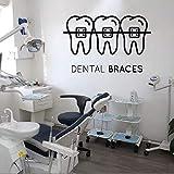 YIYEBAOFU Las Pegatinas de Pared ofrecen Cuidado Dental, Arte, clínica Dental, decoración de Tienda extraíble, calcomanías y decoración de v89x57cm