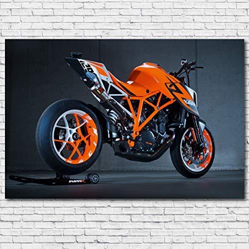 QAZEDC Dekorative Malerei Superduke KTM Superbike Motorcycle Racing Vehicle Wall Art Posters Canvas Prints Art Painting for Room Decor 60x80cm
