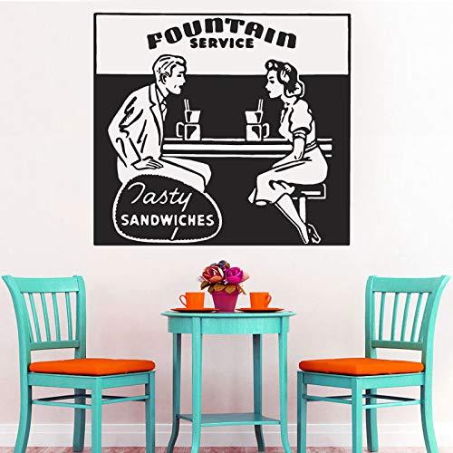 Ajcwhml Decoración del Restaurante de la Vendimia, Retro Anuncio wakk  Etiqueta de Vinilo Cocina sándwich fasty Tienda de Alimentos calcomanía  Ventana ...