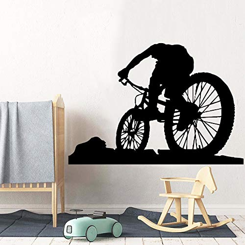 Tianpengyuanshuai Europese fiets vinyl woonkamer decoratie kinderkamer sticker 45 x 40,5 cm