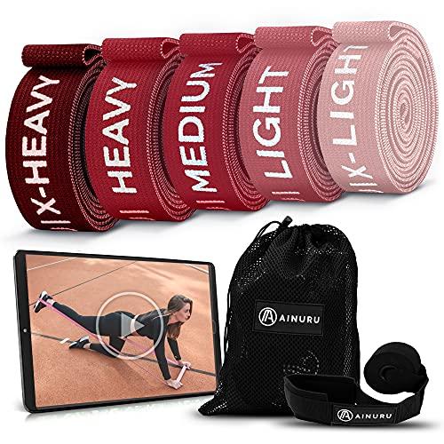 AINURU Premium FITNESSBÄNDER FÜR Muskelaufbau | Resistance Bands Set | Theraband | Widerstandsbänder | Trainingsbänder | Gymnastikband | Terrabänder für Jede Trainingsstufe