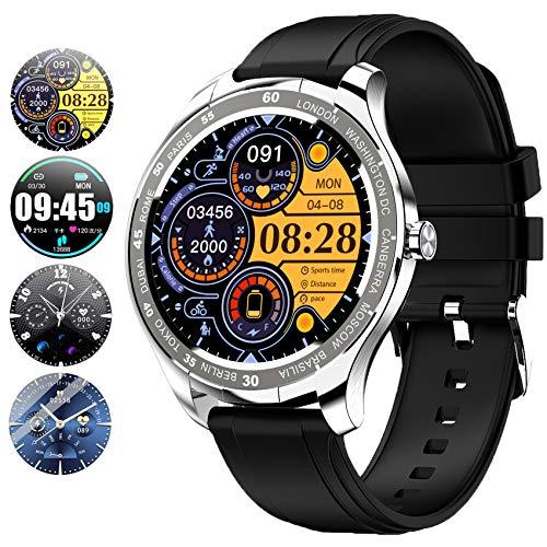 PHIPUDS Smartwatch,1.3 Zoll Touch-Farbdisplay Fitness Armbanduhr mit Pulsuhr Fitness Tracker IP68 Wasserdicht Sportuhr Smart Watch mit Schrittzähler,Schlafmonitor,Stoppuhr für Damen Herren Kinder