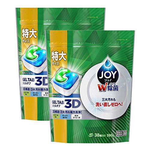 【まとめ買い】 ジョイ ジェルタブ 食洗機用洗剤 38個入 × 2個