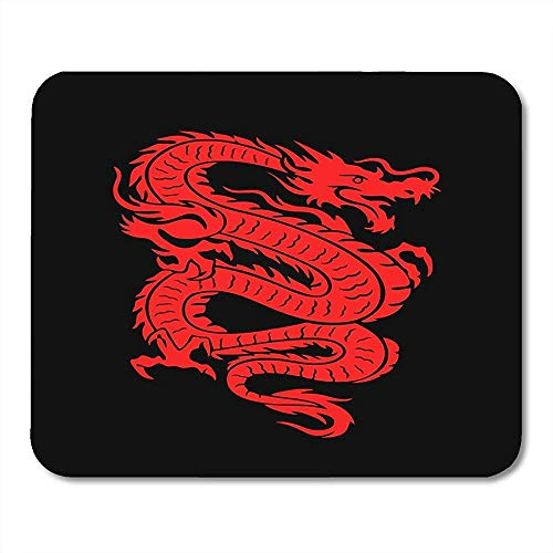 Mouse Pads Tattoo of Red Chinese Dragon on China Fire Asian Mythical Lucky Mouse pad 25 X 30 CM
