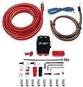 Option 100% Vollkupfer Kabelkit 35mm² - Profi Line Power Kabel Set - Perfekt für den Anschluss von Verstärker/Aktive Subwoofer im Auto