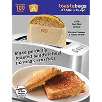 Toastabags Bolsas para tostadora, Reutilizables, 100 usos, 2 Unidades, Doradas