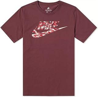 Nike Men's Camo Pack T-Shirt AJ6633-652, Burgundy Crush/Vast Grey, Large
