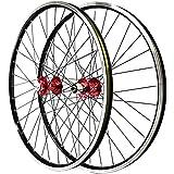 ZNND Juego De Ruedas De 26'para Bicicletas De Montaña Doble Llanta De MTB Lanzamiento Rápido Freno De Disco V-Brake 32 Hoyos (Color : C)