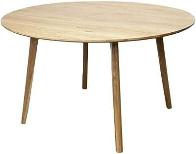 New 6IXTY Convair Scandinavian Oak Round Dining Table - 130cm