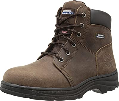 Skechers for Work Women's Workshire Peril Boot, Dark Brown, 6 M US