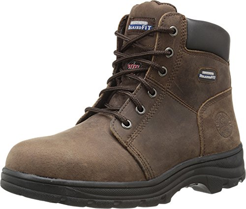 Skechers for Work Women's Workshire Peril Boot, Dark Brown, 9 M US