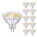 Eofiti Bombillas MR16 LED 12V, LED GU5.3 6W Equivalente a Halogeno 50W Foco GU 5.3 Blanco Cálida 2700K Luz MR 16...