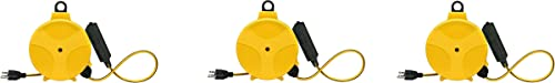 high quality Designers Edge E315 20-Foot Yellow Retractable outlet online sale Extension Cord Reel popular (3) outlet sale