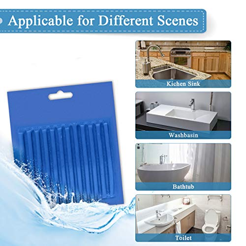 Drain Sticks JOYXEON Drain Cleaner Sticks Deodorizer Enzymatic Cleaner Cleaning Tool Kit for Kitchen Sink Bathroom Toilet Sewer, Keeps Drains Pipes Clear 100% natural Degradation, 72pcs (6 Fragrances)