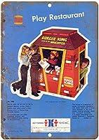 バーガーキングケタリングおもちゃヴィンテージティンサイン装飾ヴィンテージ壁金属プラークカフェバー映画ギフト結婚式誕生日警告のためのレトロな鉄の絵