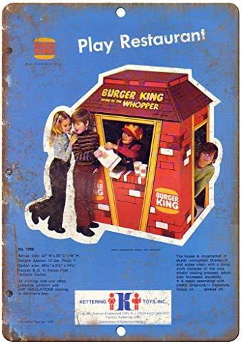 WOOOOL Burger King Wopper Kettering Juguetes Retro Vintage Wall TinRetro Cartel de pared Tinquote Art Poster para Home Café Bar Pub Decoraciones 20 x 30 cm