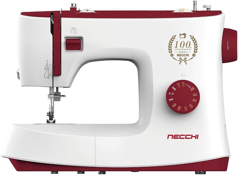 Necchi macchina per cucire, interno in pressofusione in alluminio, scocca in abs K417A