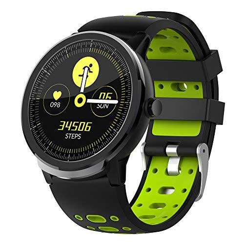 Reloj Inteligente Bluetooth con Pantalla táctil, Reloj Inteligente Deportivo, rastreadores de Ejercicios a Prueba de Agua con Monitor de sueño y Ritmo cardíaco, podómetro para Android iOS (Green)
