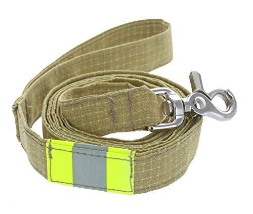 Firefighter Personalized Tan Dog Leash