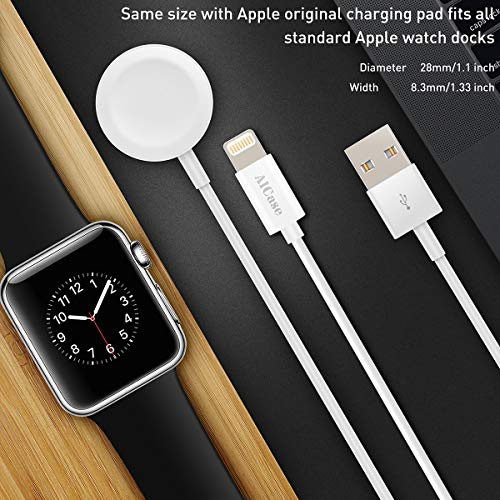 Updated Version Watch Charger Magnetic Cable for iWatch 5/4/3/2/1, 2 in 1 Wireless Charging Cable Compatible with Apple Watch Series 5/4/3/2/1 and iPhone 11/11 Pro/11 Pro Max/XR/XS/XS Max/X/8/7/6